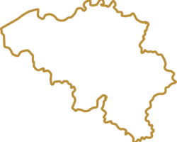 Gold belgium map