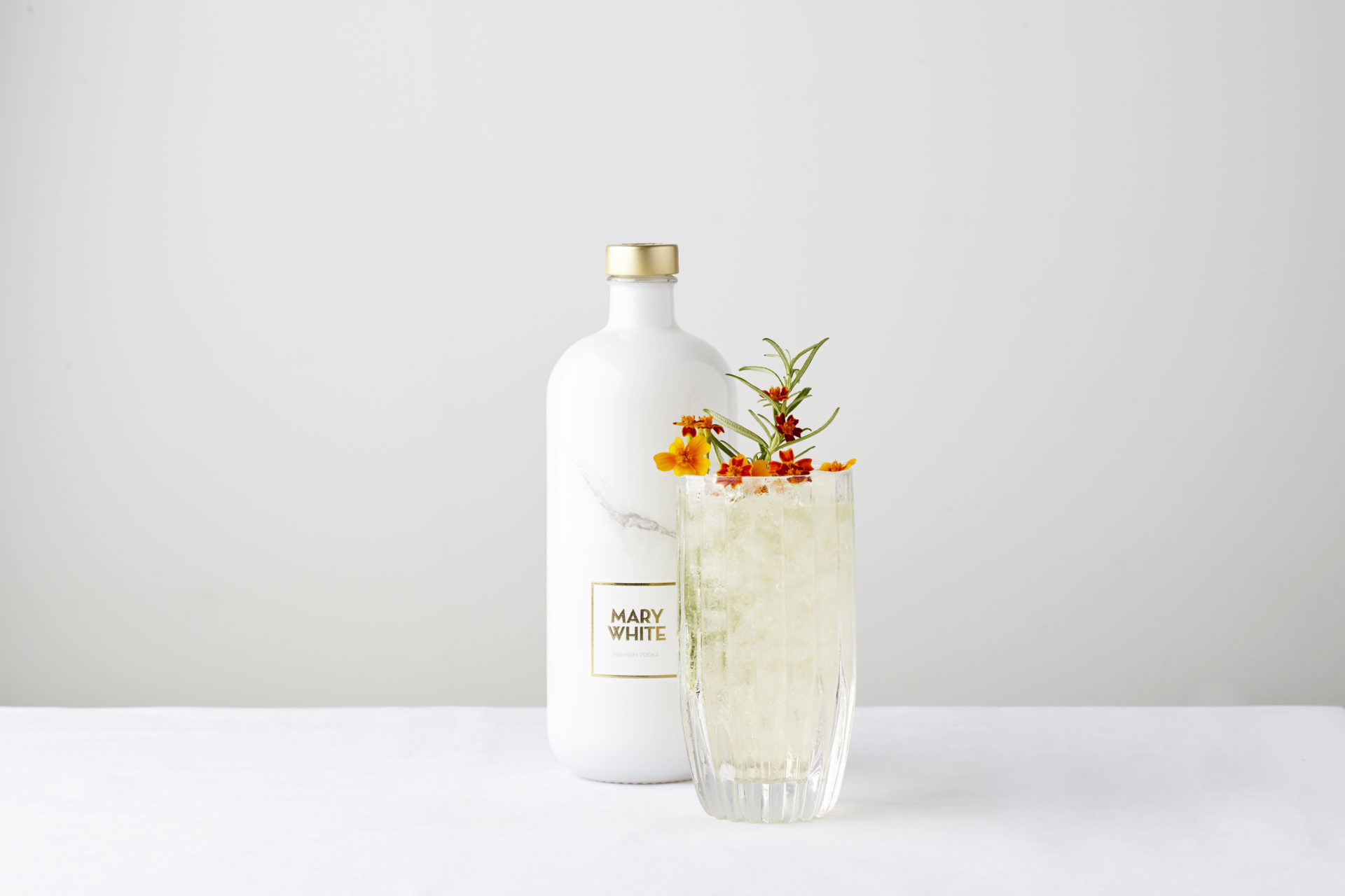 Mary white gin bottle